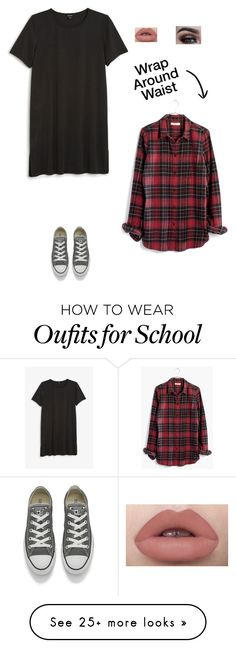 """""""School Look"""" by myamarie8 on Polyvore featuring Monki, Madewell and Converse"""