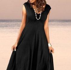 A beautiful summer dress with a wide long skirt | Beautiful summer ...