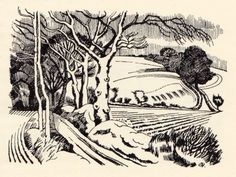 John Nash. Ploughed fields in Winter.
