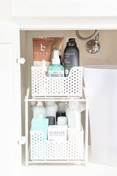 Spring Fever... time to organize, and get ready for some sunshine and laughter! Fancy Ashley | Houston Lifestyle Blogger | Fashion Blog Bathroom Sink Organization, Sink Organizer, Home Organization, Target Christmas Decor, Fancy Bedroom, Blogger Home, Tin House, Fancy Kitchens, Set Of Drawers