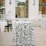 La Tavola Fine Linen Rental: Durham Black and White Cocktail Table Decor, Cocktail Tables, La Tavola Linen, Linen Rentals, Plan Design, Durham, Wedding Reception, Classic Style, Table Decorations