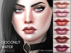 The Sims Resource: Coconut Water Lipgloss N109 by Pralinesims • Sims 4 Downloads