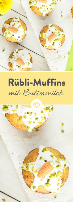 Tu mal lieber die Möhrchen…in die Rübli-Muffins! Carrots, hazelnuts, orange peel, buttermilk … this list of ingredients can simply make delicious muffins! This is how snacking is done with a clear conscience. Love Food, A Food, Food And Drink, Baking Cupcakes, Cupcake Cakes, Easter Recipes, Dessert Recipes, Desserts, Biscuit Oreo