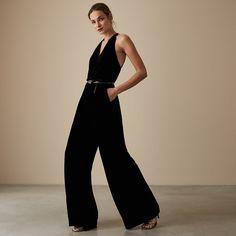 217036bf1820 Hailie Velvet Strappy Jumpsuit - REISS