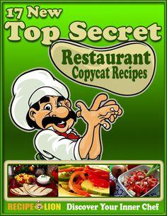 17 New Top Secret Restaurant Copycat Recipes #cookbook #recipe