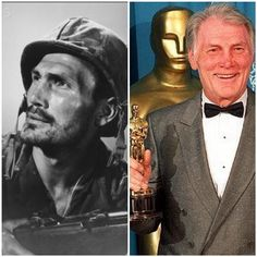 Jack Palance-Army Air Force-WW2-wounded in combat and received the Purple Heart and Victory Metal (Actor)