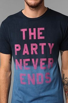 "LIFE's ""Party Never Ends"" spotted at www.urbanoutfitters.com only $28.00."