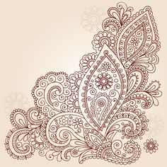 Hand drawn flowers, leaves and vines abstract paisley henna mehndi paisle . - Hand drawn flowers, leaves and vines abstract paisley henna mehndi paisley floral tattoo doodle vec - Doodle Art, Henna Doodle, Doodle Tattoo, Henna Art, Mandala Tattoo, Paisley Doodle, Paisley Art, Arte Madi, Leaves Illustration