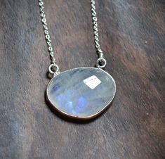moonstone silver necklace  ///  everyday minimalist by LaLoreley, $49.00