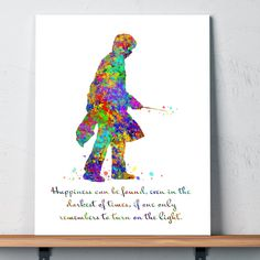 Harry Potter - Happiness Splatter Watercolor 11 x 14 Wall Art Sign Plaque