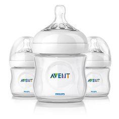 Philips AVENT 4 Ounce BPA Free Natural Polypropylene Bottles, 3 Pk