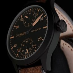 C8 Regulator - Vintage Edition - Hand-finished, surgical grade, stainless steel case and crown with PVD black finish