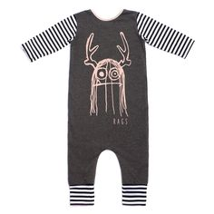 3/4 Sleeved 'Trinny' Romper | Charcoal