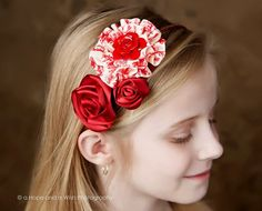 Ribbon rose instructions and ruffle flower hair bow tutorial trio headband PDF ebook for beginners