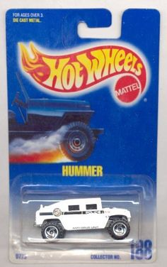 Hot Wheels 1991-188 WHITE Hummer Blue Card 1:64 Scale by Mattel, http://www.amazon.com/dp/B004SKWEW0/ref=cm_sw_r_pi_dp_DAq0qb1F1BXNC