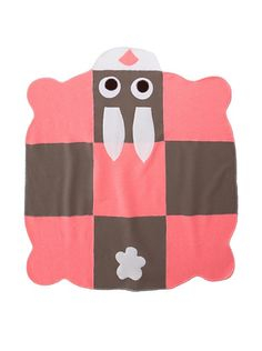 Cate & Levi Bunny Baby Blanket, Pink/Brown at MYHABIT