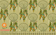 Free November downloads from Skelly Chic! www.skellychic.com