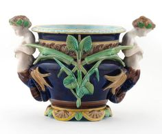 English Majolica Jardinière 19th c.