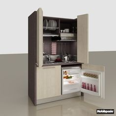 Mini kitchen with folding doors Zeus Collection by MOBILSPAZIO Contract