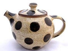 Polka Dot Teapot by JDWolfePottery on Etsy, $65.00                                                                                                                                                     More