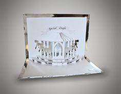 Wedding celebration  Pop Up Card Template by MySVGHUT on Etsy