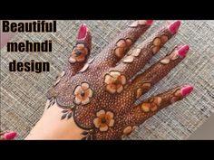 Super simple and beautiful mehndi design tutorial Pretty Henna Designs, Mehandi Designs Easy, Modern Mehndi Designs, Mehndi Design Photos, Wedding Mehndi Designs, Mehndi Designs For Fingers, Dulhan Mehndi Designs, Beautiful Mehndi Design, Latest Mehndi Designs