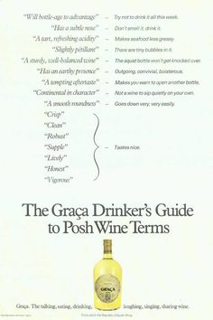 Does anyone remember this Graca wines advert from 1983 Creative Director Brian Searle-Tripp, Red & Yellow Co-Founder
