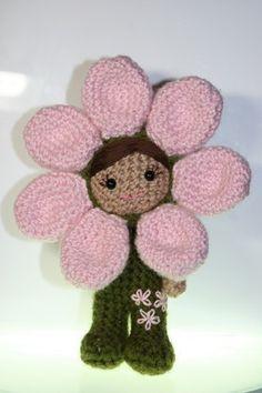 Crochet Pattern- An amigurumi flower girl
