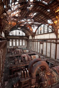 """""""A huge, hollow space and high ceilings frame the derelict looking equipment perfectly in this shot, offering a stark example of eerily beautiful urban decay. And with temperatures well below freezing when photographer Gregoire C visited, it must have been an even creepier scene to take in."""""""