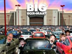 One Of The Easiest-To-Understand Cartoons About The Hidden Costs Of Boxmart - Er - I Mean Walmart: This is a funny video that pretty much nails how Walmart...er, I mean Big Boxmart...is successful and how it affects us as a country.  We know they pay low wages and outsource to foreign labor, but it was 1:17 into this video that I suddenly realized why our economy may forever be ruined by the giant.  #Sprawlmart