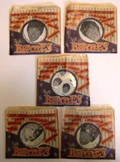 60s Beatles licorice candy records