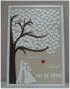 Plus Size Wedding Guest Dresses Wedding Frames, Tree Wedding, Wedding Guest Book, Wedding Gifts, Diy Crafts For Gifts, Diy Arts And Crafts, Paper Crafts, Wedding Cards Handmade, Wedding Keepsakes