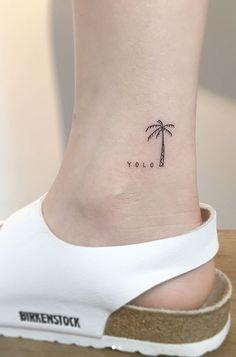 YOLO Palm Tree Tattoo