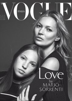 Kate Moss and Jefferson Hack's daughter has stepped into the fashion spotlight on this month's edition of Vogue Italia. The teenager and her mother are seen in a series of embraces on the cover.