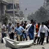 Yahoo Bloody Sunday as 97 Gazans, 13 Israeli soldiers killed At least 97 Palestinians and 13 soldiers were killed Sunday as Israel ramped up a major military offensive in the bloodiest single day in Gaza in five years. As regional leaders met in Doha for urgent talks on a ceasefire, the Gaza Palestinian death toll soared to 435, with a spokesman for the… AFP40 mins agoPoliticsSocietyKhaled MashalIsraelPalestinian territoriesGaza Strip