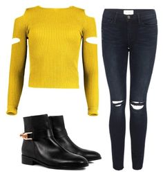 """""""Sem título #7679"""" by ana-sheeran-styles ❤ liked on Polyvore featuring Frame Denim, Boohoo and Eugenia Kim"""