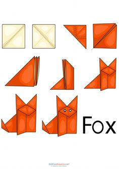 The fox says you should increase your mental dexterity by folding origami! This free and printable fox origami template is a great Origami Fox Easy, Whale Origami, Instruções Origami, Origami Templates, Origami Ball, Useful Origami, Paper Crafts Origami, Printable Templates, Easy Origami For Kids