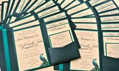 Custom Peacock Feather Pocketfold Wedding by 1OfAKindCustomDesign, $7.50