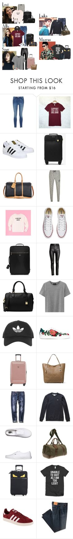 """""""Friday // Hotel Breakfast & Flight Home // 2/24/17"""" by graywolf422 ❤ liked on Polyvore featuring adidas, MICHAEL Michael Kors, Sole Society, adidas Originals, Converse, Kate Spade, H&M, Topshop, Gucci and Victorinox Swiss Army"""