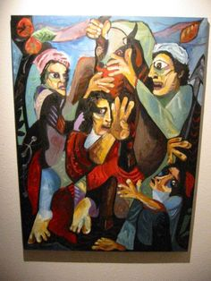 Salimi Impressionist Religious Inspire Oil On Canvas