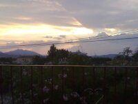 ...puesta de sol , entre naranjos , desde la terraza de mi casa de Dènia ...¡¡..