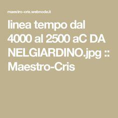 linea tempo dal 4000 al 2500 aC DA NELGIARDINO.jpg :: Maestro-Cris