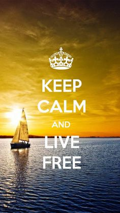 KEEP CALM AND LIVE FREE, the iPhone 5 KEEP CALM Wallpaper I just pinned!