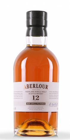 Aberlour Single Malt Scotch 12-Year Old is soft and round on the nose, with fruity notes of red apple and sherry, balanced with rich chocolate, toffee, cinnamon and ginger spiciness on the palate. It has a warming and lingering finish that's sweet and slightly spicy. – Distiller's Notes