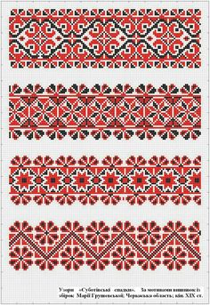 Embroidered old handmade cross-stitch ethnic Ukrainian pattern. Cross Stitch Borders, Cross Stitch Flowers, Cross Stitch Charts, Cross Stitch Designs, Cross Stitching, Cross Stitch Patterns, Folk Embroidery, Cross Stitch Embroidery, Embroidery Patterns
