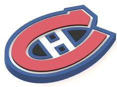Montreal Canadiens ice hockey team logo #NHL #logo #3Dmodels #icehockey #MontrealCanadiens