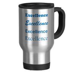 EXCELLENCE Standard Coach Mentor Sports School GIF Coffee Mug #zazzle #travelmug #excellence