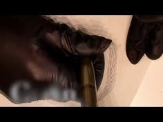 Microblading - Deluxe Brows® - Hair strokes drawing on artificial skin - YouTube