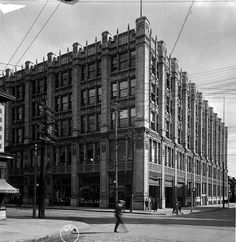 The S/E corner of Queen and John as seen in 1919 - Much Music building now