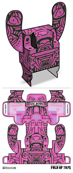 Downloadable paper art toy design by Fold Up Toys - Rorschach #018